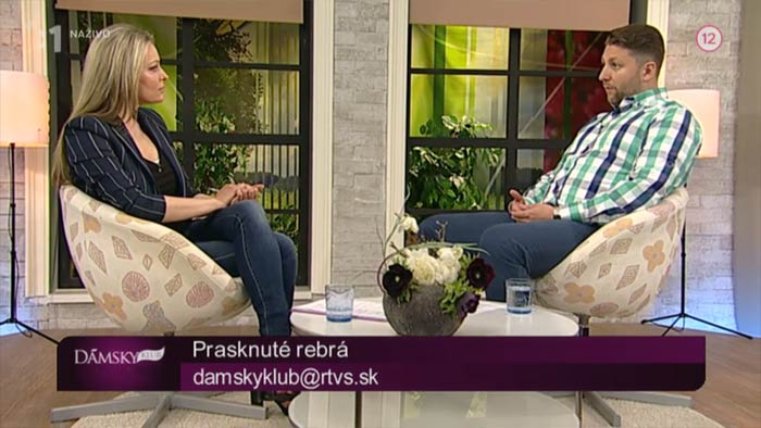 Rozhovor o prasklinách a zlomeninách rebier – dámsky klub RTVS